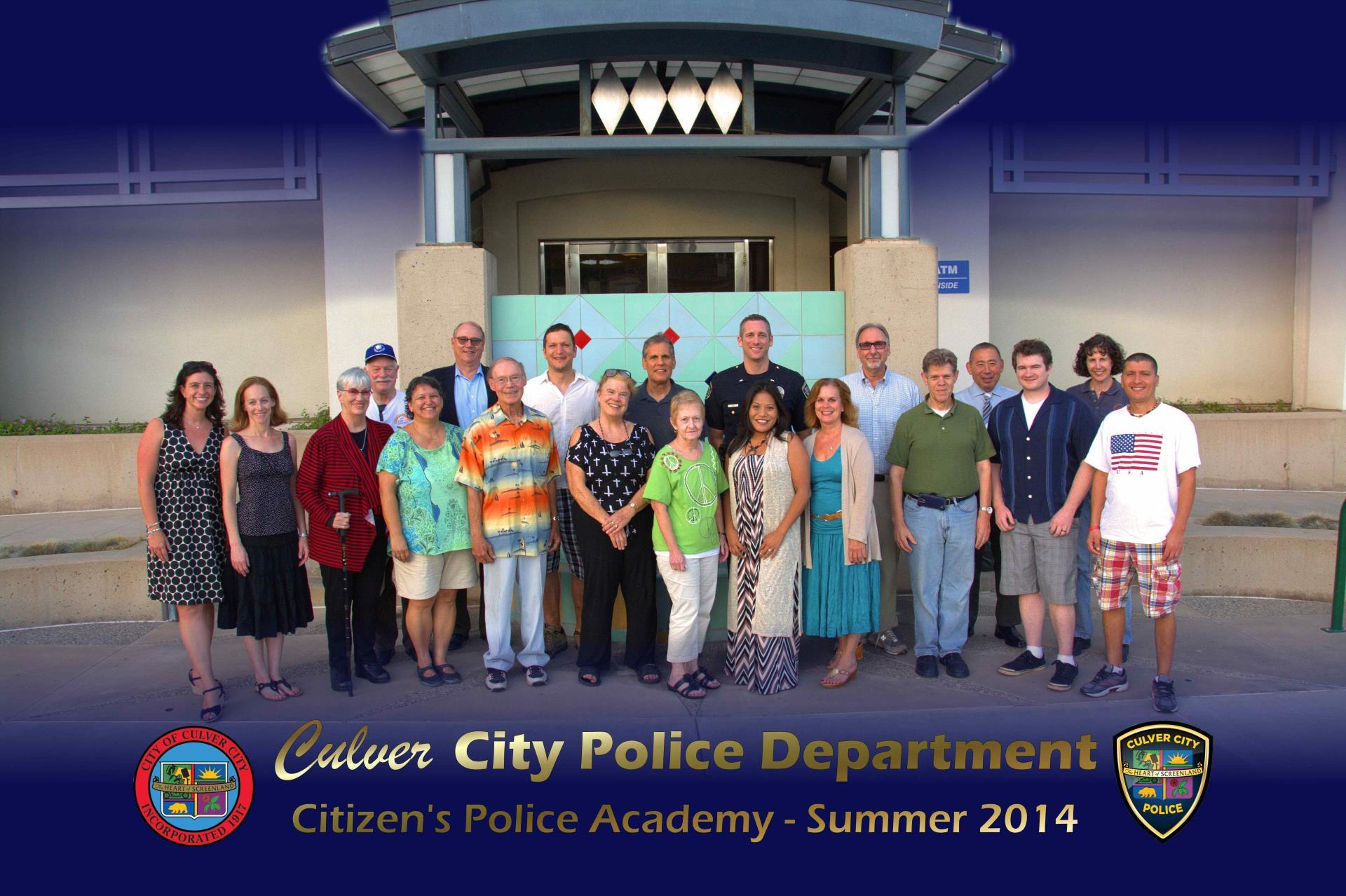 Summer 2014 Citizens Police Academy Participants